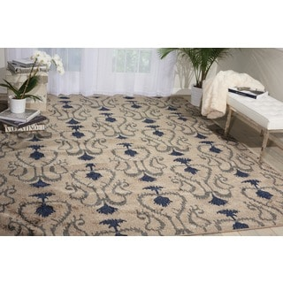 Kindred Damask Silver Area Rug (7'9 x 10')