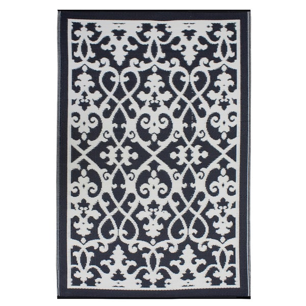 Prater Mills Cream/ Black Indoor/ Outdoor Rug