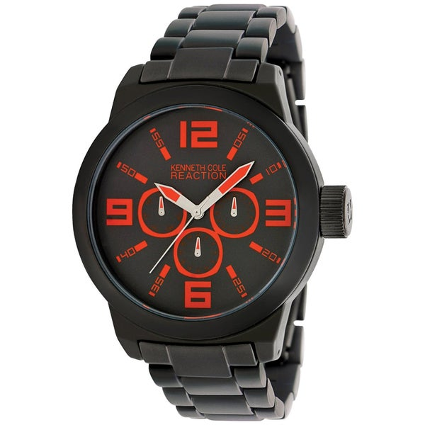 Kenneth Cole Men's RK3219 Black Aluminum Quartz Watch with Black Dial