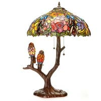 Warehouse of Tiffany Sarah Camille Multicolored/Bronze Glass/Resin Table Lamp