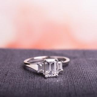 Miadora Signature Collection 14k White Gold 1ct TDW Certified Emerald-cut Diamond Ring