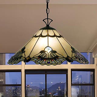 Tiffany-style Warehouse of Tiffany Courtesan Hanging Lamp|https://ak1.ostkcdn.com/images/products/7683650/P15093188.jpg?impolicy=medium