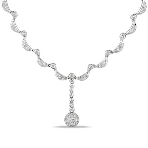 Miadora Signature Collection 14k White Gold 2 3/4ct TDW Diamond Necklace