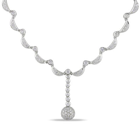 Miadora Signature Collection 14k White Gold 2 3/4ct TDW Diamond Necklace