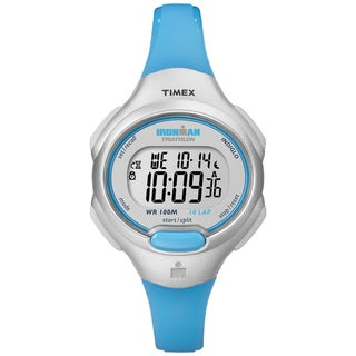Timex T5K7399J Women's Ironman Traditional 10-lap Turquoise Resin Watch