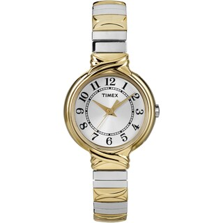 Timex T2N9799J Women's Elevated Classics Dress Two-Tone Expansion Band Watch