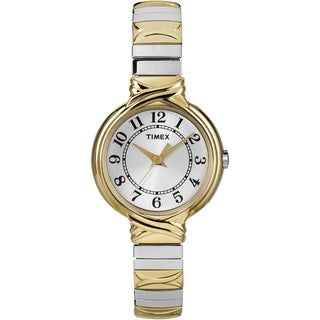 Timex Women's T2N979 Sierra Street Two-Tone Stainless Steel Expansion Band Watch - GOLD/silver