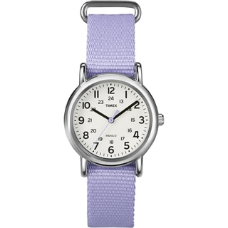 Timex T2P0769J Women's Weekender Lavender Slip Thru Nylon Watch