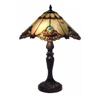 Tiffany-style Warehouse of Tiffany Courtesan Table Lamp