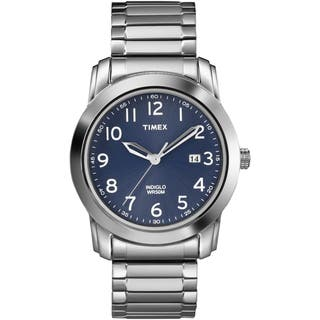 Timex Men's T2P132 Elevated Classics Blue Dial Silvertone Expansion Band Watch|https://ak1.ostkcdn.com/images/products/7683711/7683711/Timex-Mens-T2P132-Elevated-Classics-Blue-Dial-Silvertone-Expansion-Band-Watch-P15093233.jpg?impolicy=medium