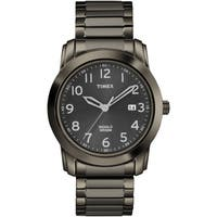 Timex Men's T2P135 Elevated Classics Black Sunray Dial Expansion Band Watch