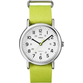 Timex T2P1459J Unisex Weekender Bright Green Slip Thru Nylon Watch