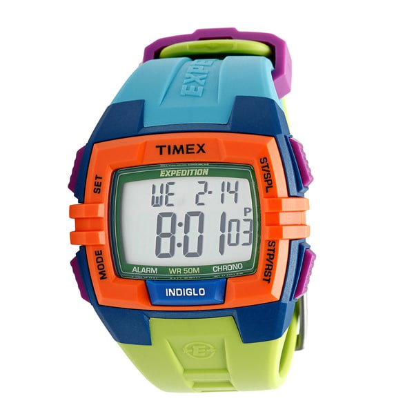 Timex Unisex T49922 Expedition Rugged Digital CAT Colorblock Watch