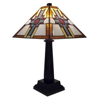 Tiffany-style Warehouse of Tiffany Cross Table Lamp