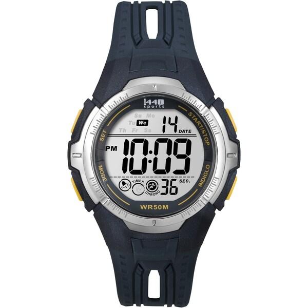 Timex T5K6819J Men's Sports Digital Navy Blue Resin Full-Size Watch