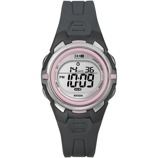 Timex T5K6839J Women's Sports Digital Grey/ Pink Resin Watch