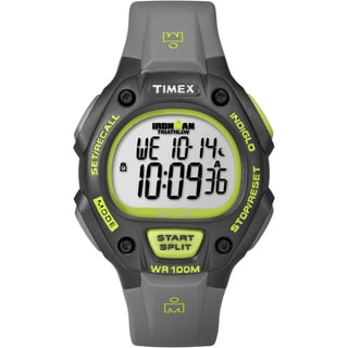 Timex T5K6929J Men's Ironman Traditional 30-lap Black/ Green Watch