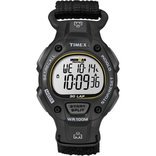 Timex T5K6939J Men's Ironman Traditional 30-lap Black/ Yellow Fast Wrap Strap Watch