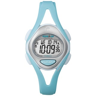 Timex T5K7019J Women's Ironman Sleek 50-lap Pastel Mint Resin Watch