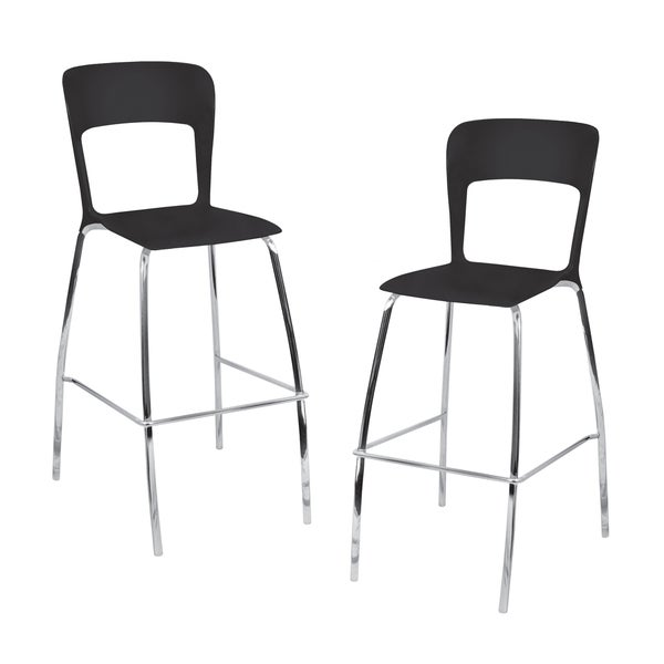 LumiSource Black Barstools (Set of 2)