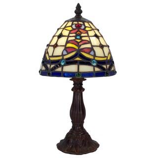 Tiffany-style Warehouse of Tiffany Posis Table Lamp