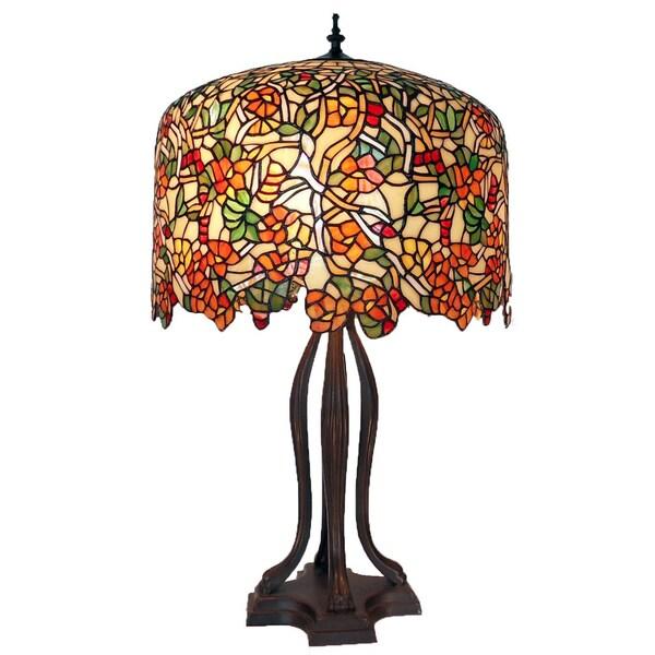 Tiffany-style Warehouse of Tiffany Cherry Blossom Table Lamp