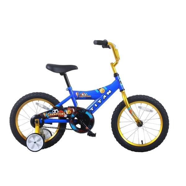 Titan Champion 16-inch Blue/ Gold Boys BMX Bike