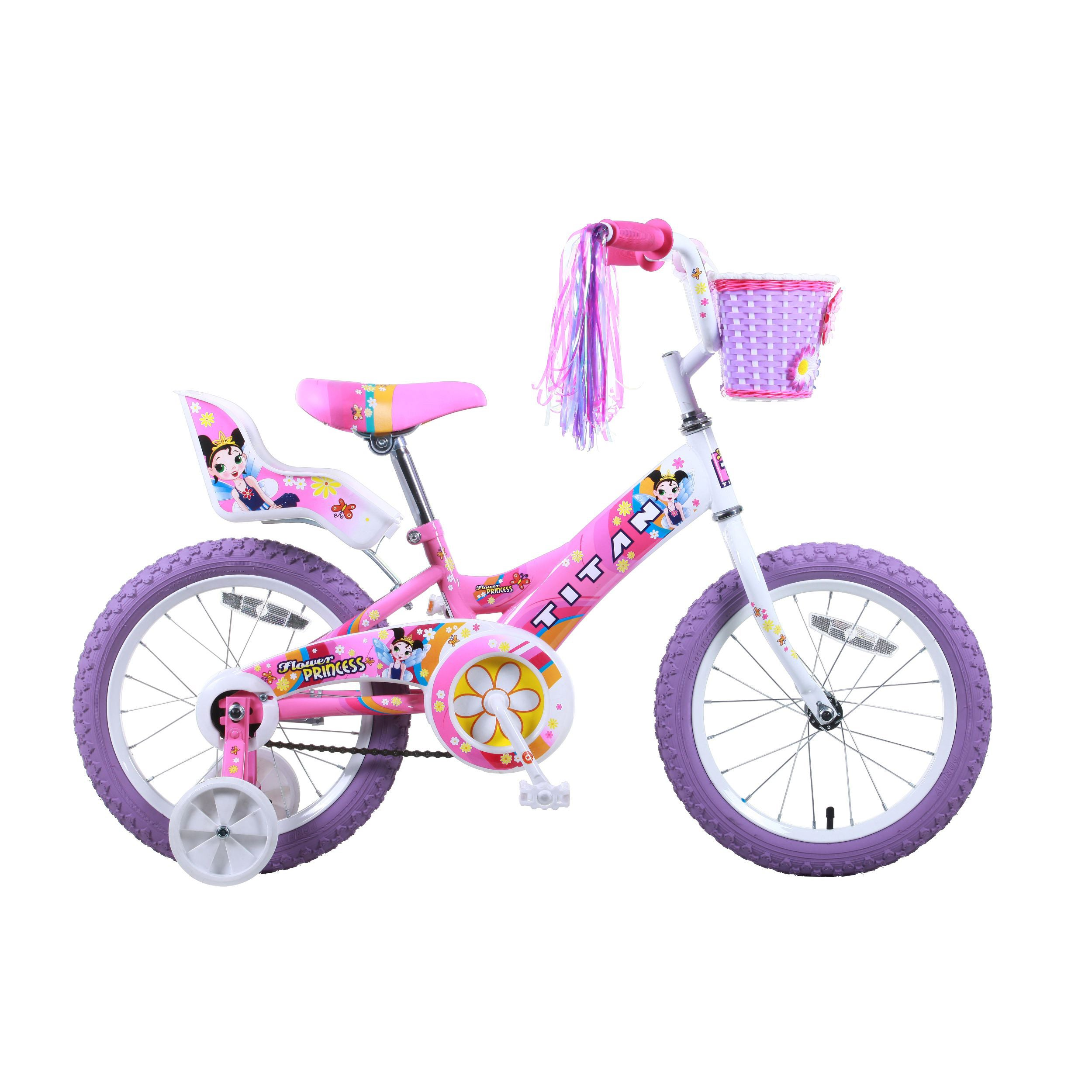 Titan Flower Princess 16-inch Pink BMX Bike (Flower Princ...