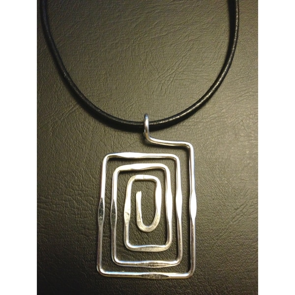 Silver Plated Maze Necklace (India)