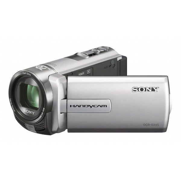 "Sony Handycam DCR-SX45 Digital Camcorder - 3"" - Touchscreen LCD - CCD"
