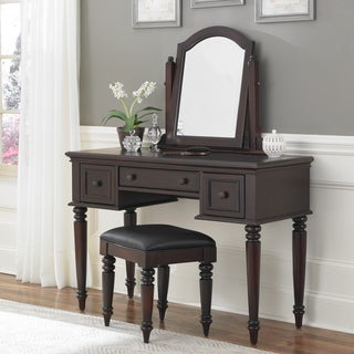 White Vanity Table Set Jewelry Armoire Makeup Desk Bench Drawer ...