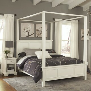 Naples Queen Canopy Bed and Night Stand by Home Styles