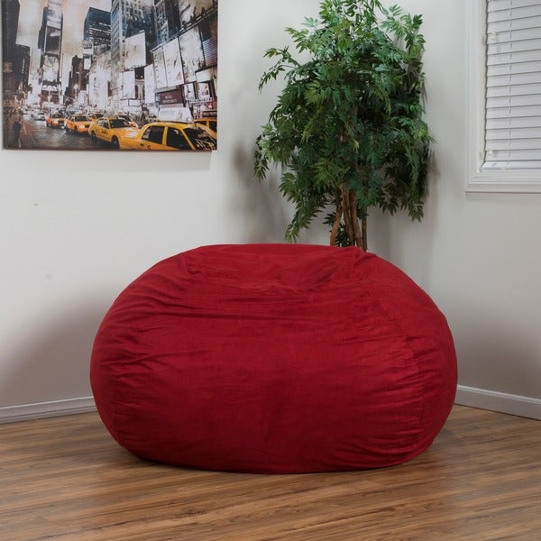Madison Faux Suede 5 Foot Lounge Beanbag Chair By Christopher Knight Home    Free Shipping Today   Overstock.com   15093470