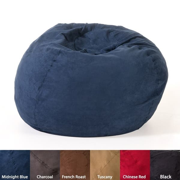 Admirable Shop Madison Faux Suede 5 Foot Lounge Beanbag Chair By Alphanode Cool Chair Designs And Ideas Alphanodeonline