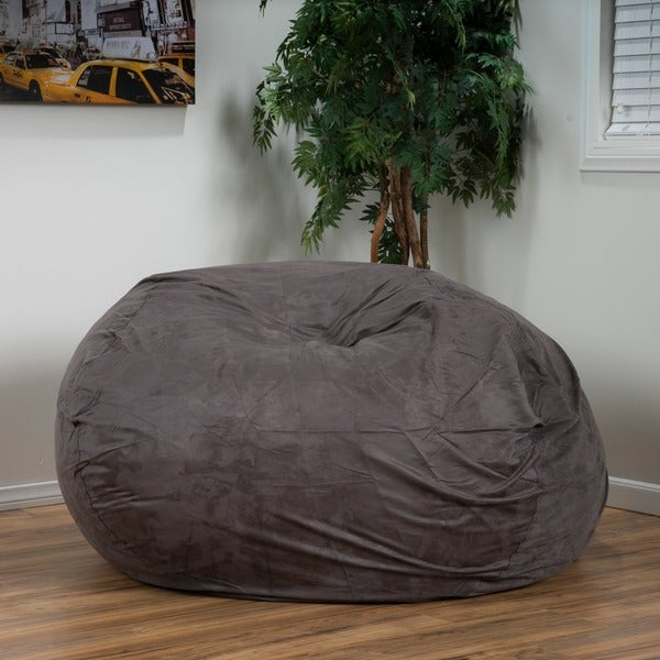 Lounger Bean Bag Chair madison faux suede 5-foot lounge beanbag chairchristopher