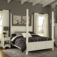 Naples King Poster Bed and Night Stand by Home Styles