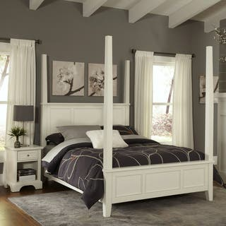 Naples Queen Poster Bed and Night Stand by Home Styles. Poster Bed Bedroom Sets For Less   Overstock com