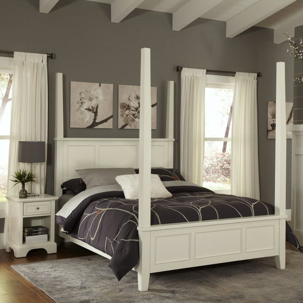 Home Styles Naples King Poster Bed and Night Stand