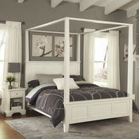 Naples King Canopy Bed and Night Stand by Home Styles