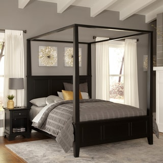Home Styles Bedford King Canopy Bed and Night Stand