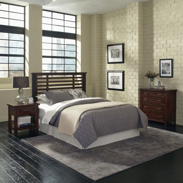 Cabin Creek Queen/ Full Headboard, Night Stand and Chest by Home Styles