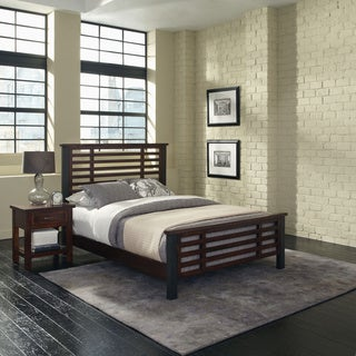 Home Styles Cabin Creek Queen Bed and Night Stand