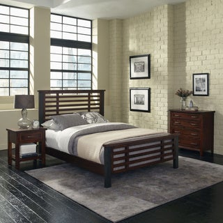 Home Styles Cabin Creek Queen Bed, Night Stand and Chest