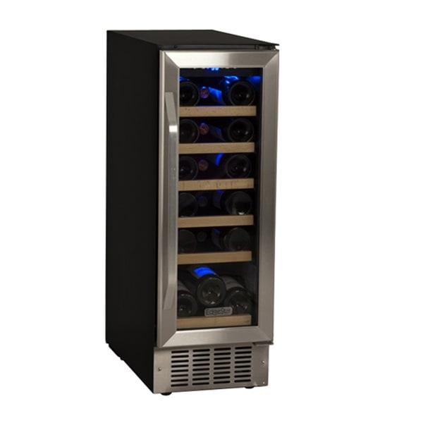 EdgeStar 12-Inch Black/Stainless Steel 18 Bottle Built-In Wine Cooler Sold by Living Direct