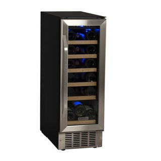 EdgeStar 12-Inch Black/Stainless Steel 18 Bottle Built-In Wine Cooler Sold by Living Direct