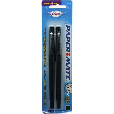 Papermate Flair Tip-guard Medium Black Felt-tip Point Pens (2 packs)