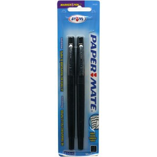 Papermate Flair Tip-guard Medium Black Felt-tip Point Pens (2 packs)