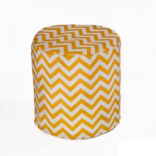 Handmade Indoor/ Outdoor 17-inch Beanbag Cylinder (Option: Yellow)