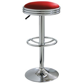 Superieur AmeriHome Soda Fountain Style Bar Stool   Red