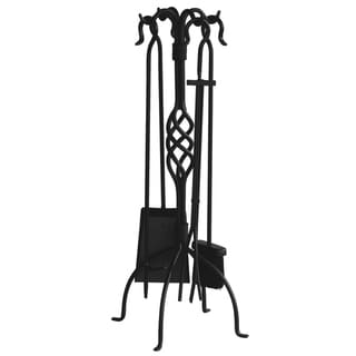 Blue Rhino Center Weave Black Iron 5-piece Fireset